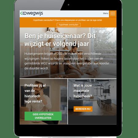 SEO content marketing bureau voor Wegwijs