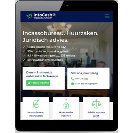 Professionele website adviesbureau case intoCash