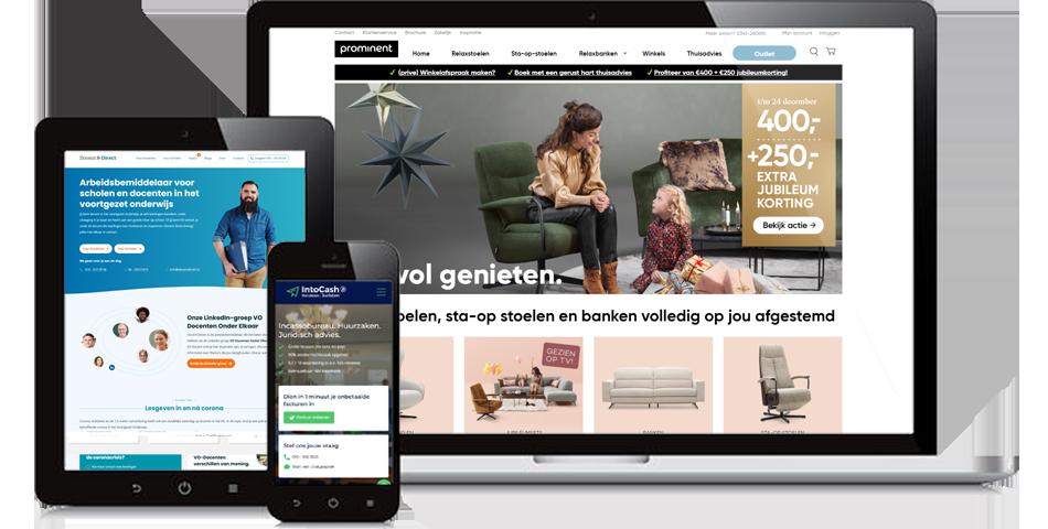 seo content marketing bureau voorbeelden op scherm