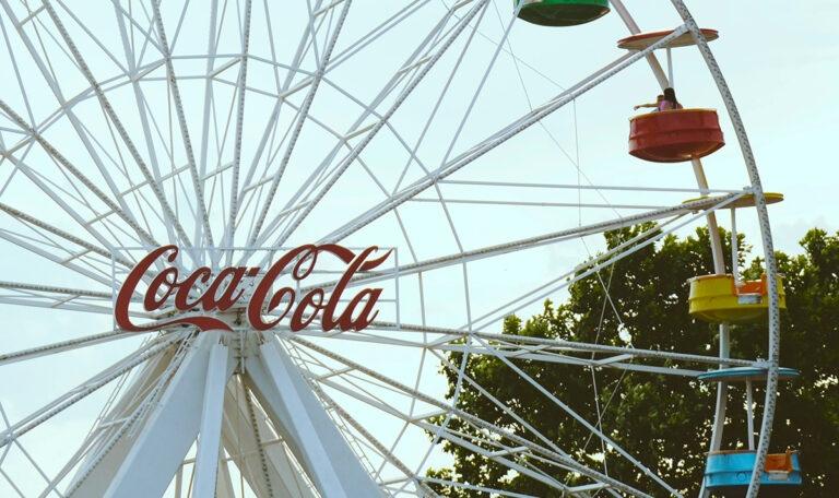 Advertising coca cola reuzenrad